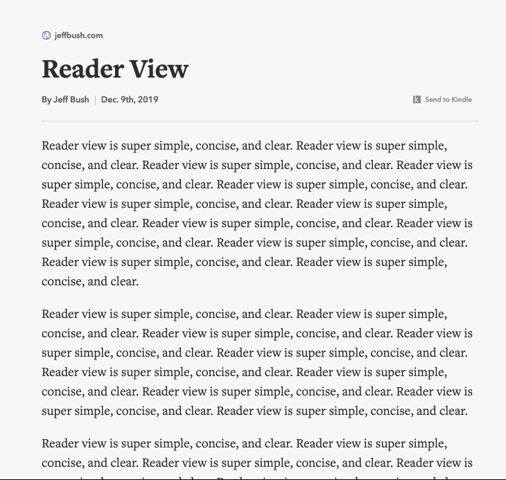 Do you know about Reader View?